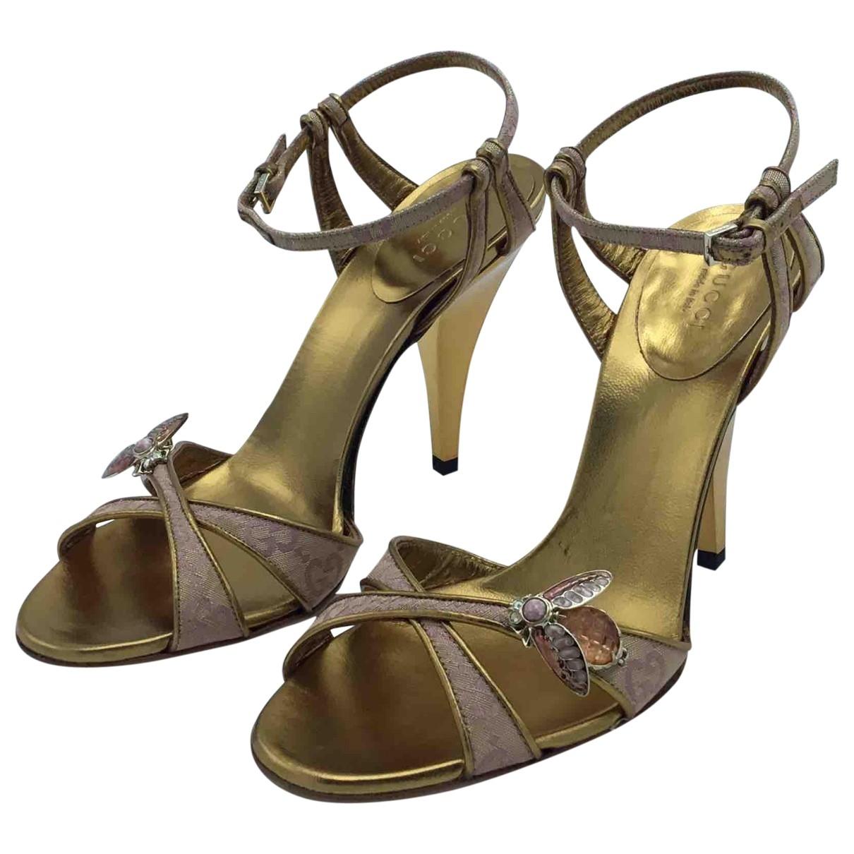 Gucci \N Gold Cloth Sandals for Women 36 EU