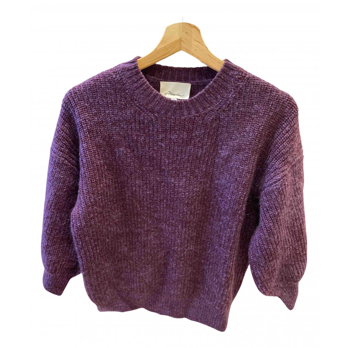 3.1 Phillip Lim - Pull   pour femme en laine - violet