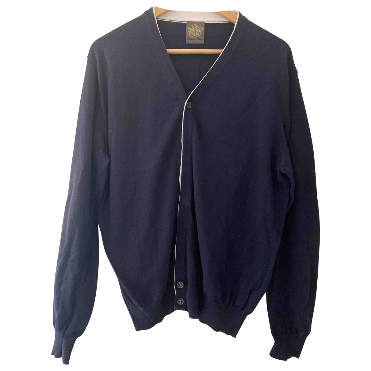 Non Signé / Unsigned \N Navy Cotton Knitwear & Sweatshirts for Men 44 IT