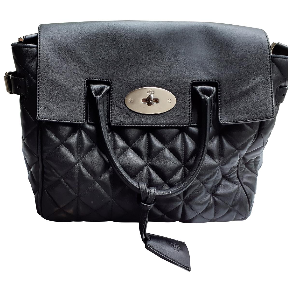 Mulberry - Sac a dos Cara Delevigne pour femme en cuir - noir