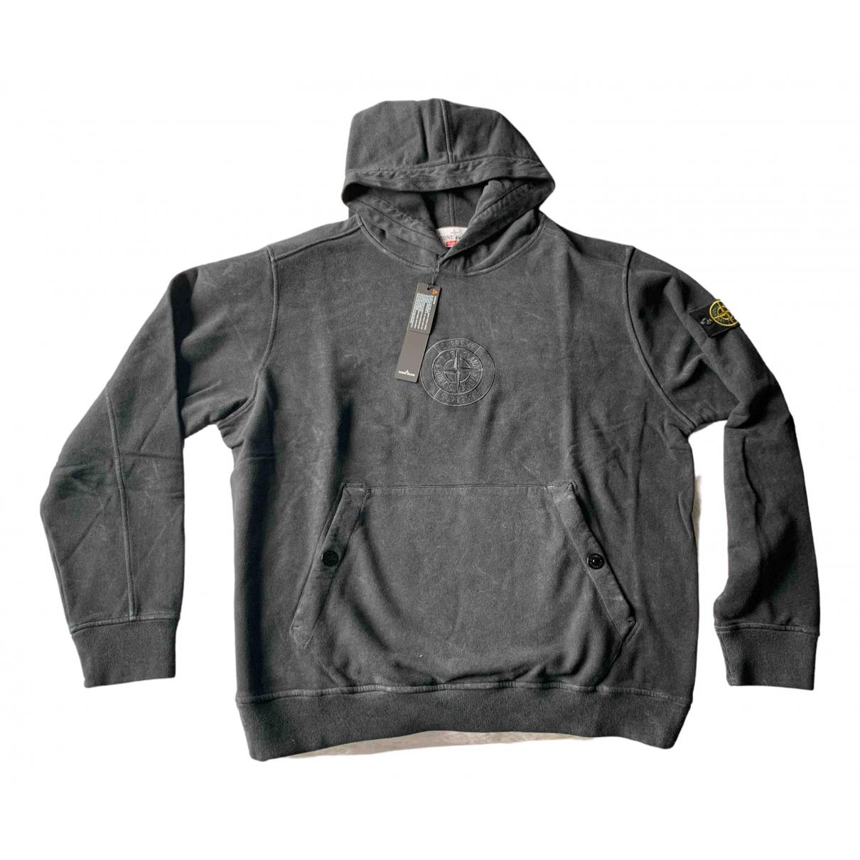 Supreme X Stone Island \N Pullover.Westen.Sweatshirts  in  Schwarz Baumwolle