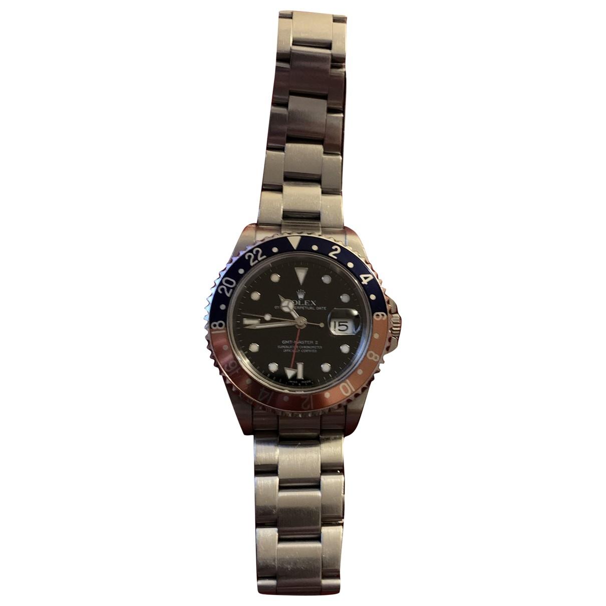 Rolex GMT-Master II Uhr in  Grau Stahl