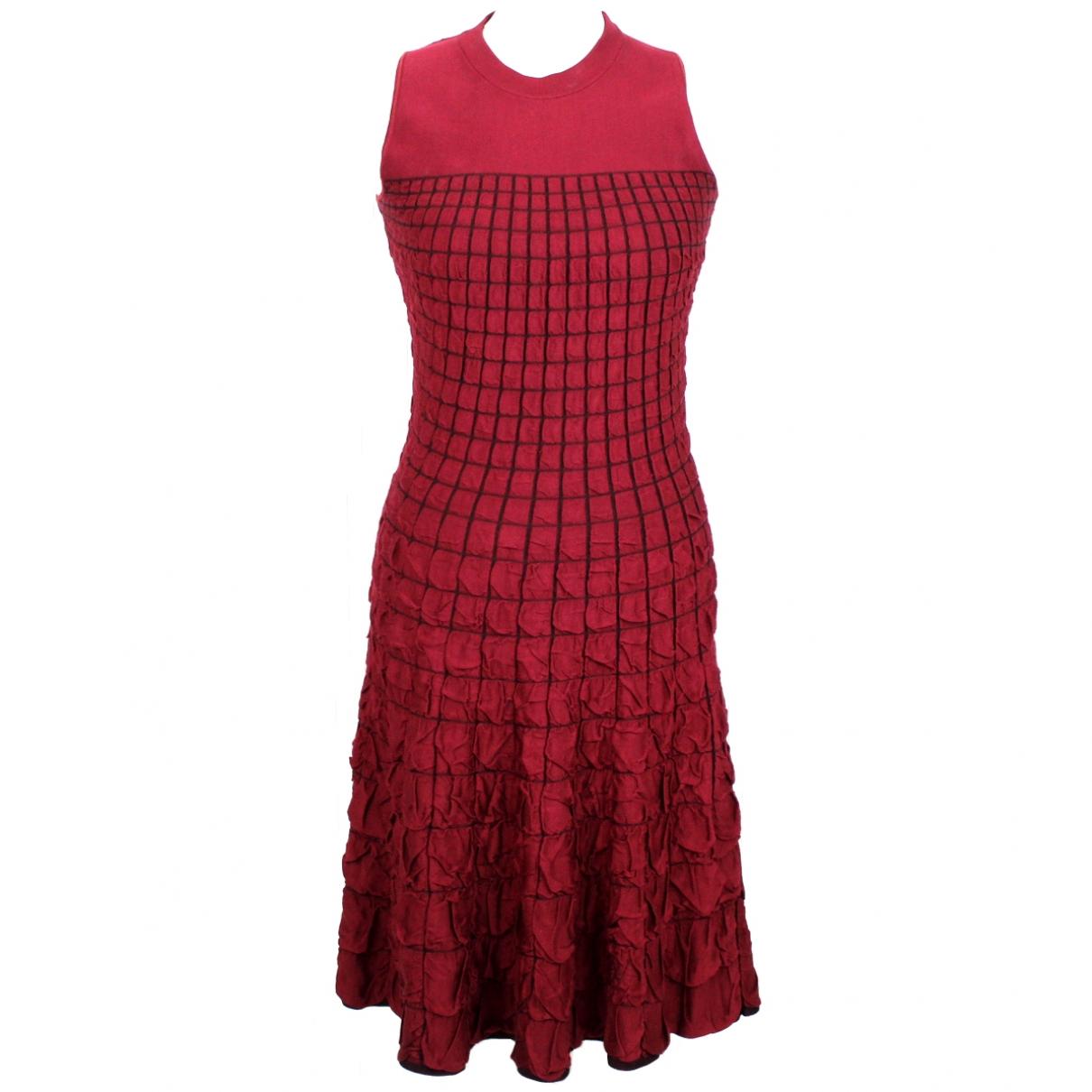 Vestido midi de Seda Louis Vuitton