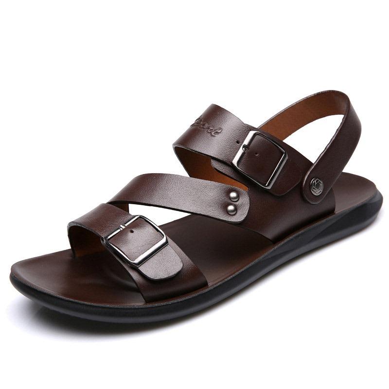 Ericdress Flat Heel Plain Buckle Open Toe Sandals