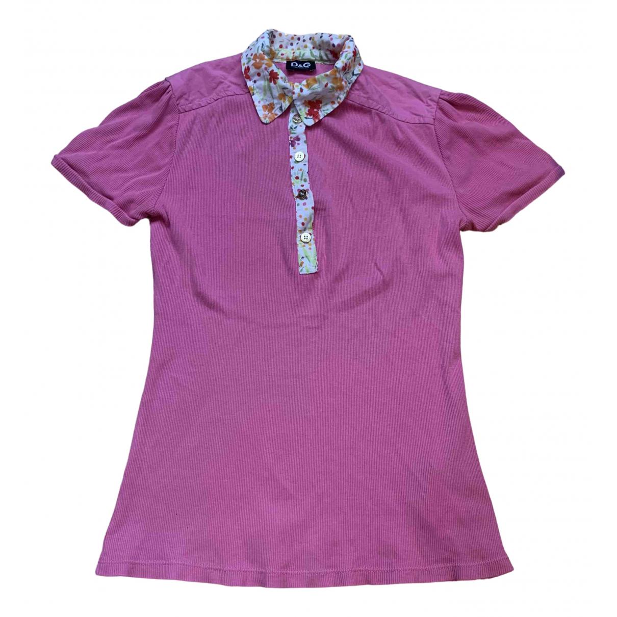 D&g - Top   pour femme en coton - rose