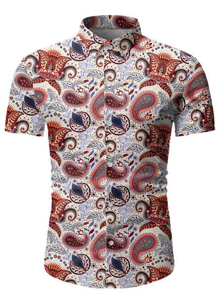 Yoins Men Summer Beach Holiday Paisley Everyday Shirt