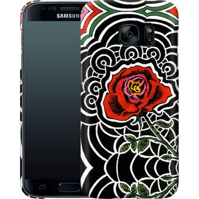 Samsung Galaxy S7 Smartphone Huelle - Marions Rose von Kaitlyn Parker