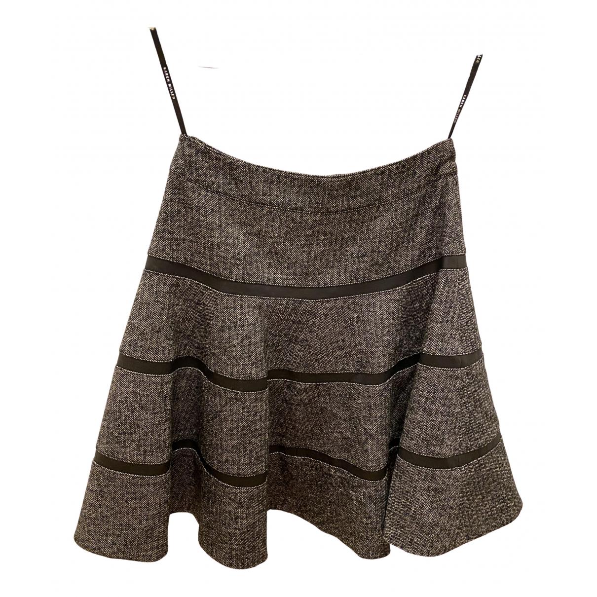 Karen Millen - Jupe   pour femme en laine - gris