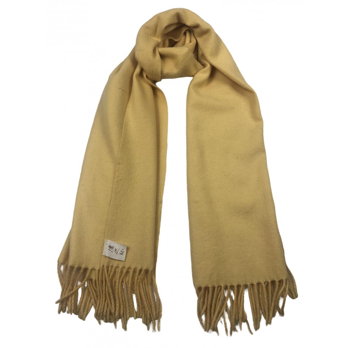 Courreges - Foulard   pour femme en laine - jaune