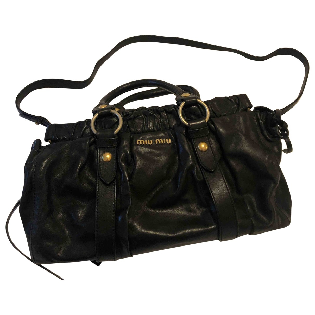 Miu Miu Bow bag Handtasche in  Schwarz Leder