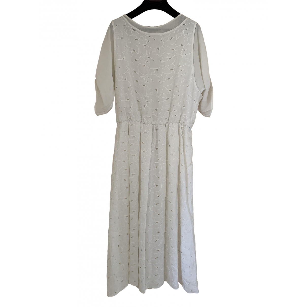 Non Signe / Unsigned \N Kleid in  Weiss Synthetik