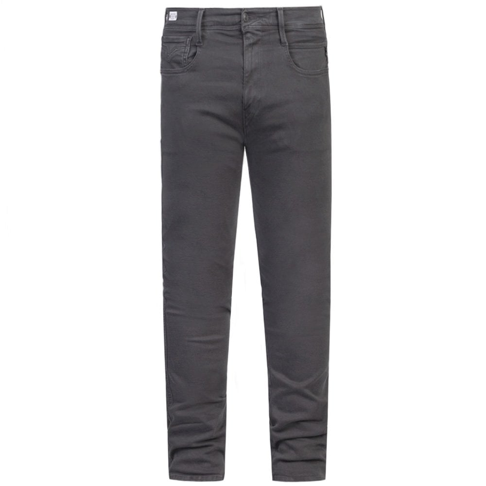 Replay Hyperflex Color Edition Jeans Colour: DARK GREY, Size: 32 30
