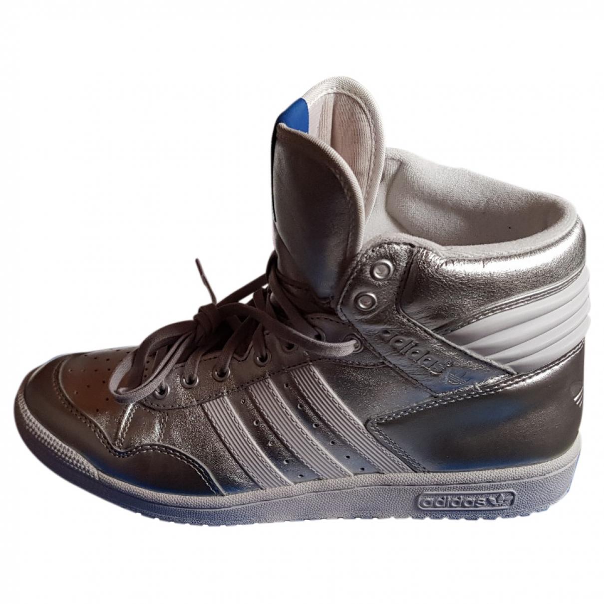 Adidas \N Metallic Leather Trainers for Men 42 EU