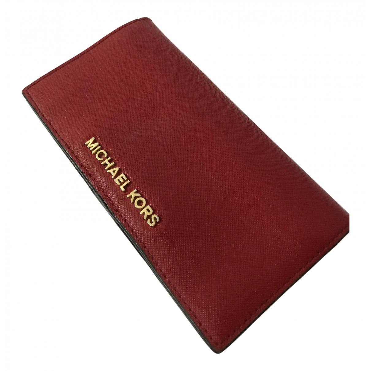 Michael Kors \N Kleinlederwaren in  Rot Leder