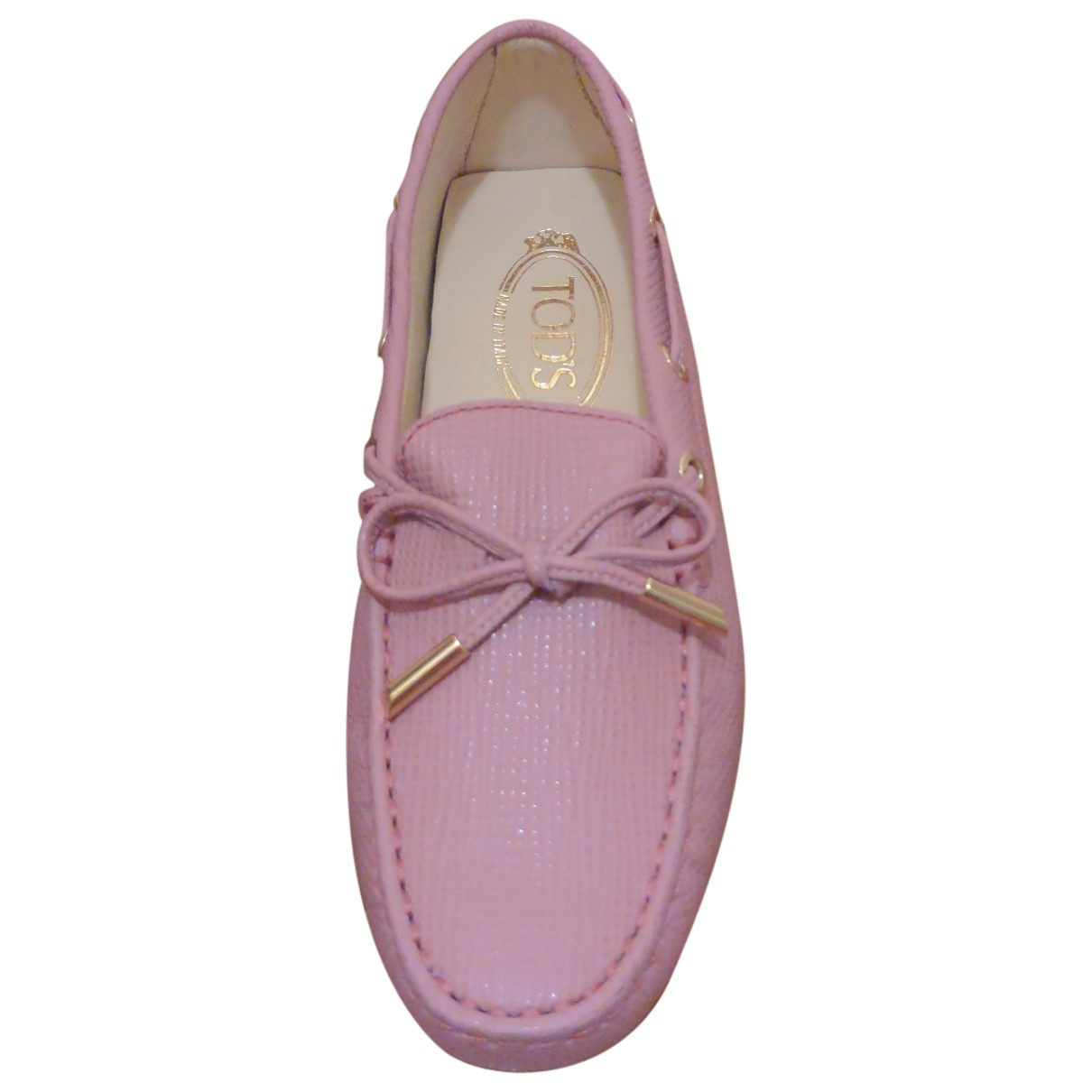 Tod's Gommino Purple Leather Flats for Women 35 EU