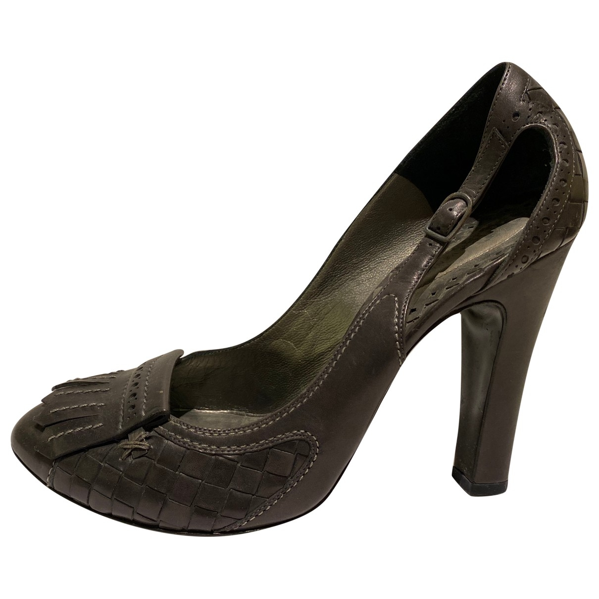Bottega Veneta \N Grey Leather Heels for Women 40 EU