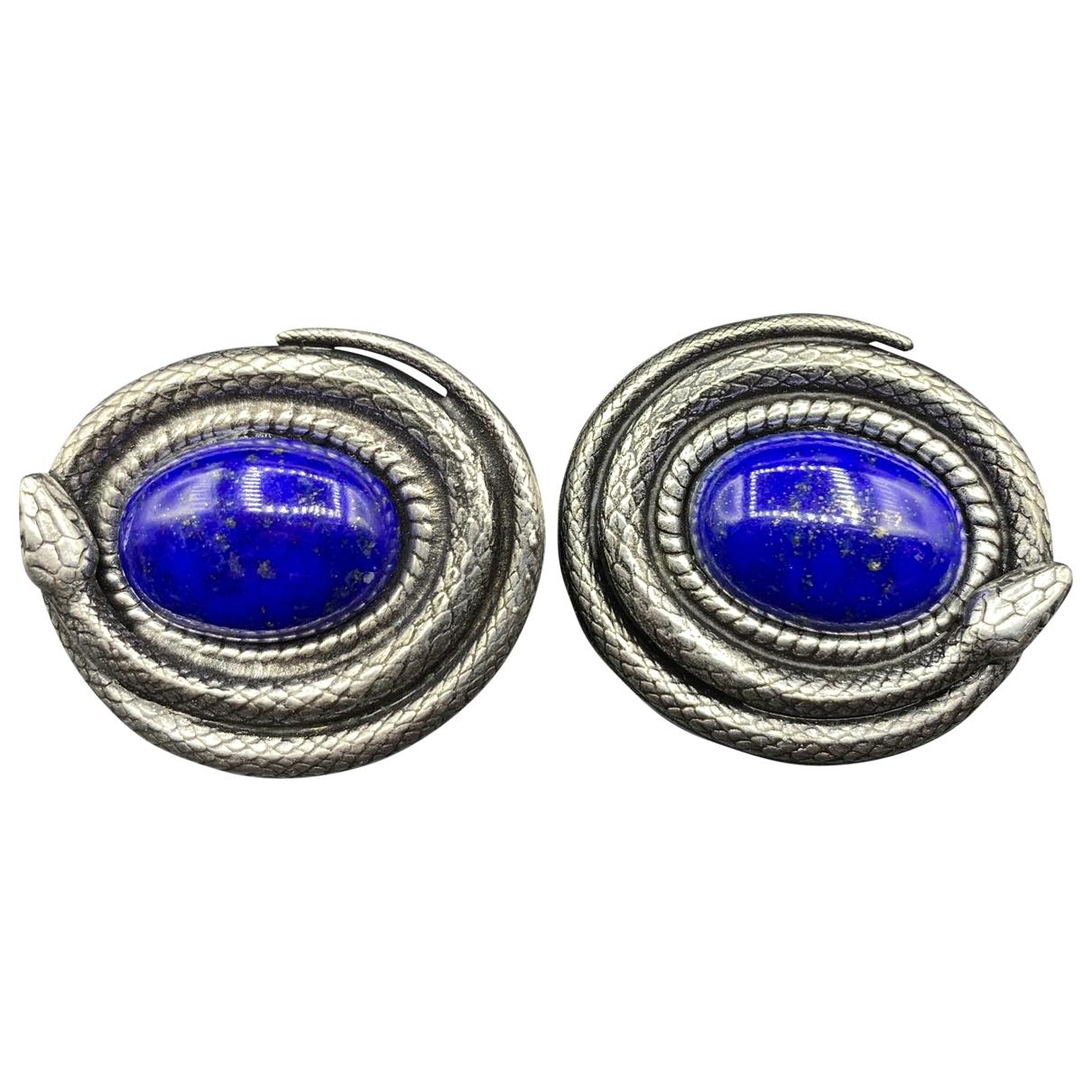 Esther Vina \N Blue Metal Earrings for Women \N