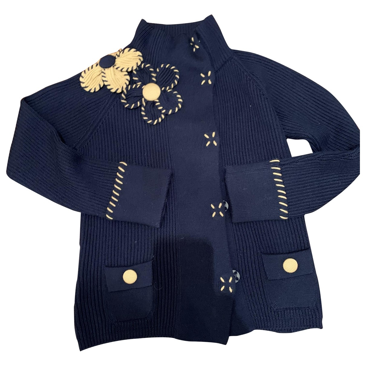 Moschino Cheap And Chic - Pull   pour femme en laine - bleu