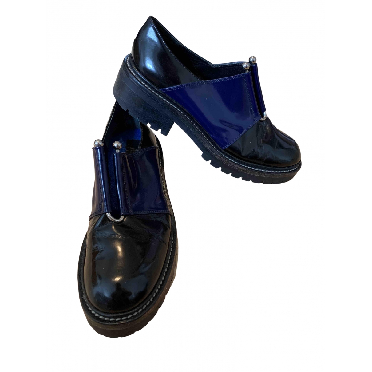 Kenzo \N Black Leather Mules & Clogs for Women 41 EU