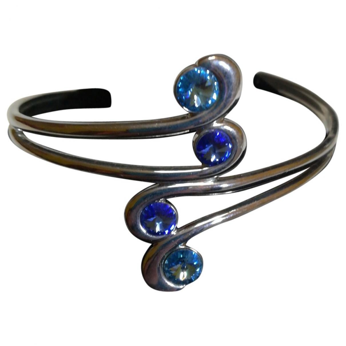 - Bracelet Manchette pour femme en metal - marine