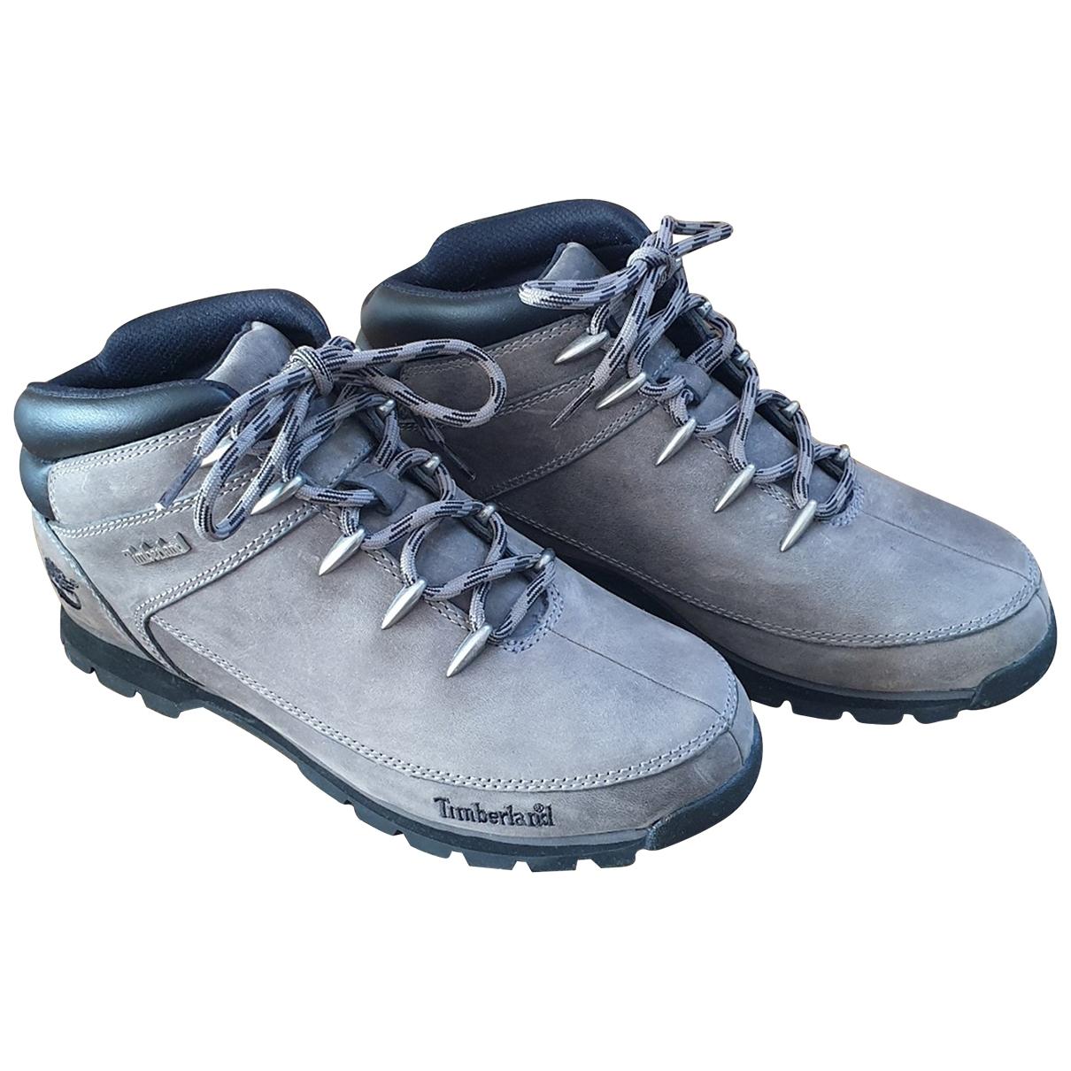 Timberland \N Stiefel in  Grau Leder