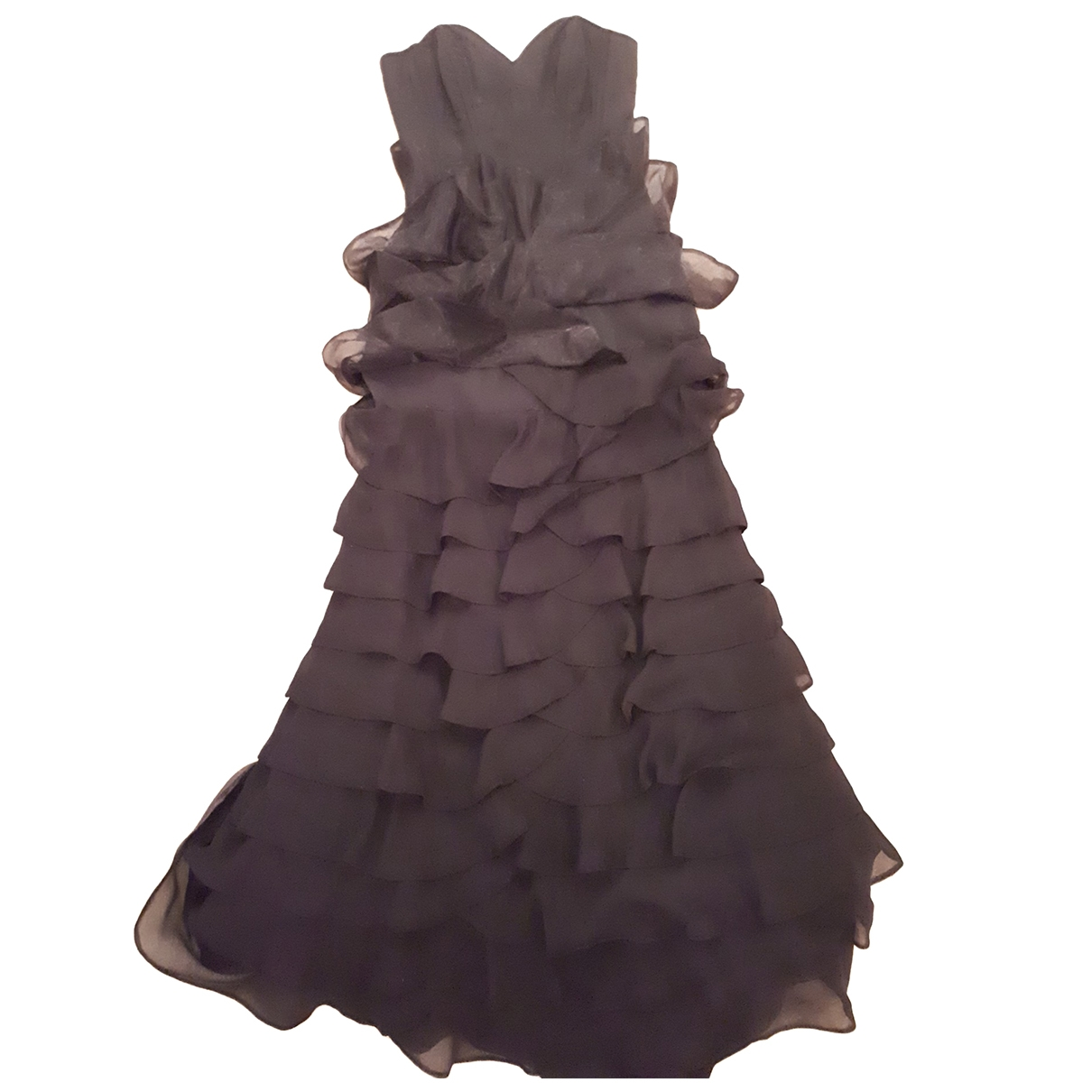 Karen Millen \N Kleid in  Schwarz Seide