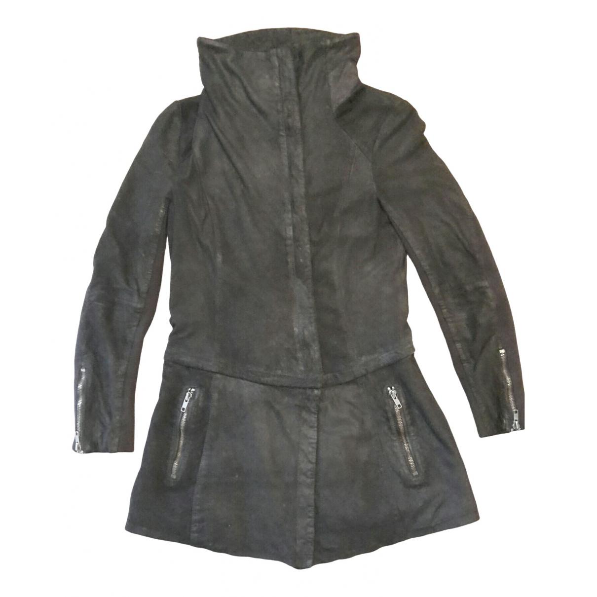 Muubaa - Veste   pour femme en cuir - noir