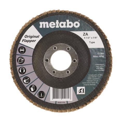 Metabo 4 1/2 In. Original Flapper 40 7/8 T27 Fiberglass