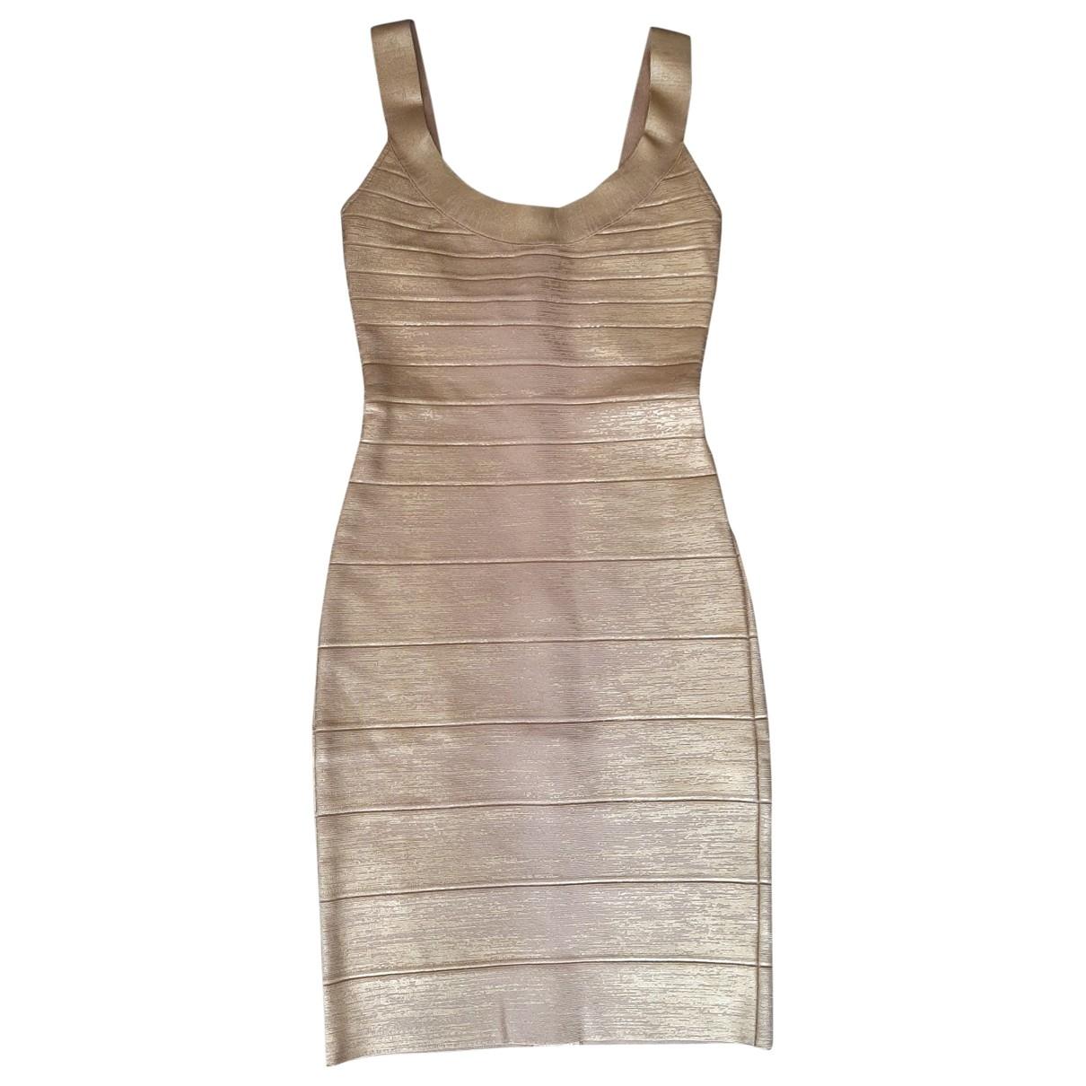 Herve Leger - Robe   pour femme - dore