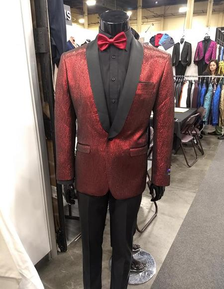 Mens Single Breasted Shawl Label Red Cheap Blazer Jacket For Men