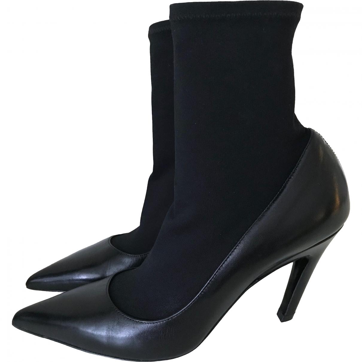 Balenciaga Knife Black Leather Ankle boots for Women 35 EU