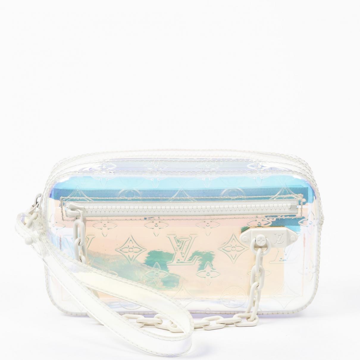 Louis Vuitton Pochette Trunk Handtasche in  Weiss Leder