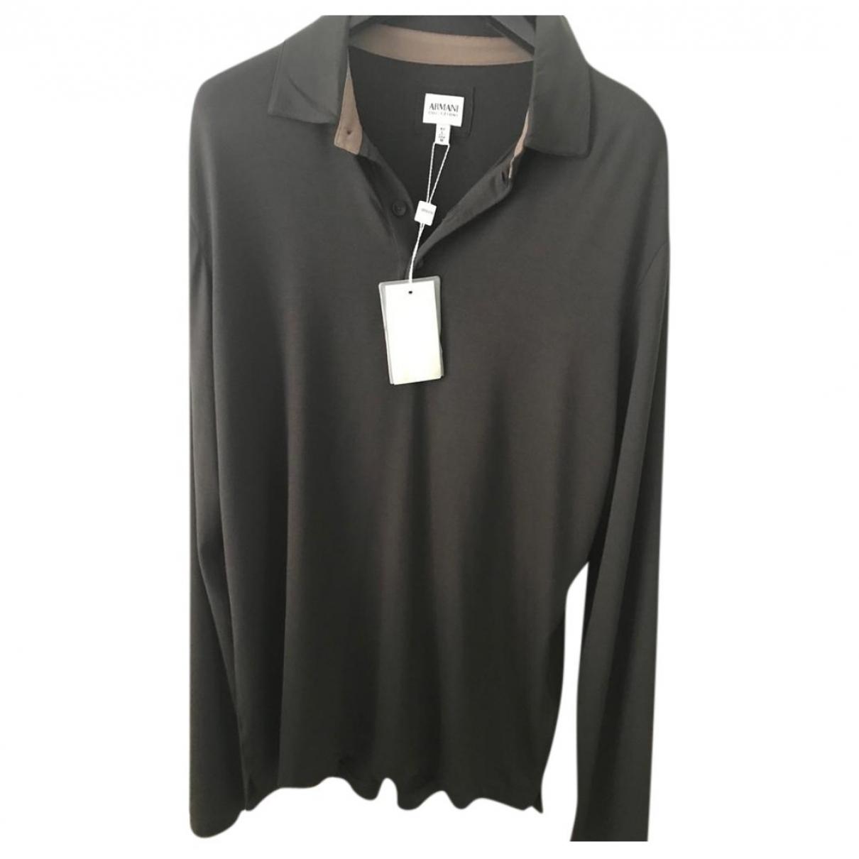 Armani Collezioni \N Pullover.Westen.Sweatshirts  in  Gruen Viskose