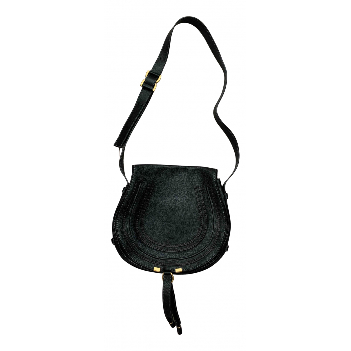 Chloé Marcie Black Leather handbag for Women N