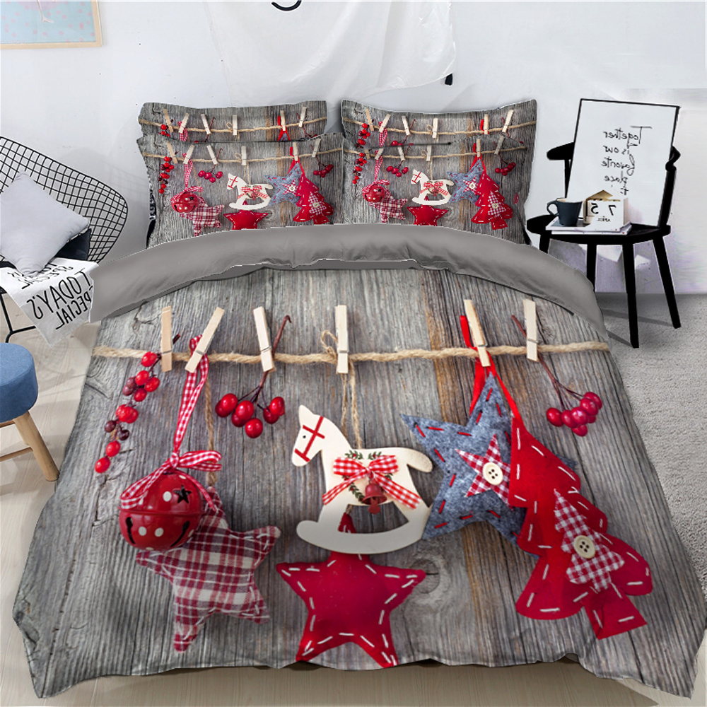 Hanging Christmas Ornaments Printed 3D 4-Piece Bedding Sets/Duvet Covers