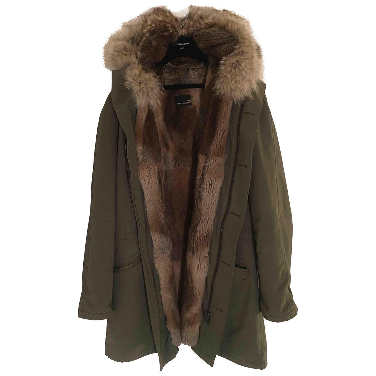Yves Salomon \N Khaki Rabbit coat  for Men 50 FR