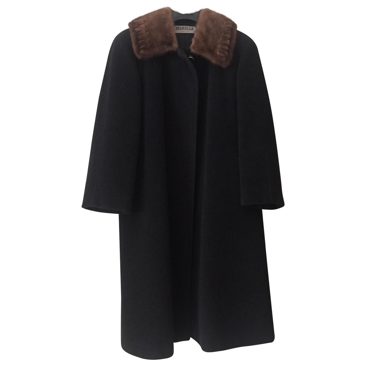 Marella - Manteau   pour femme en laine - anthracite