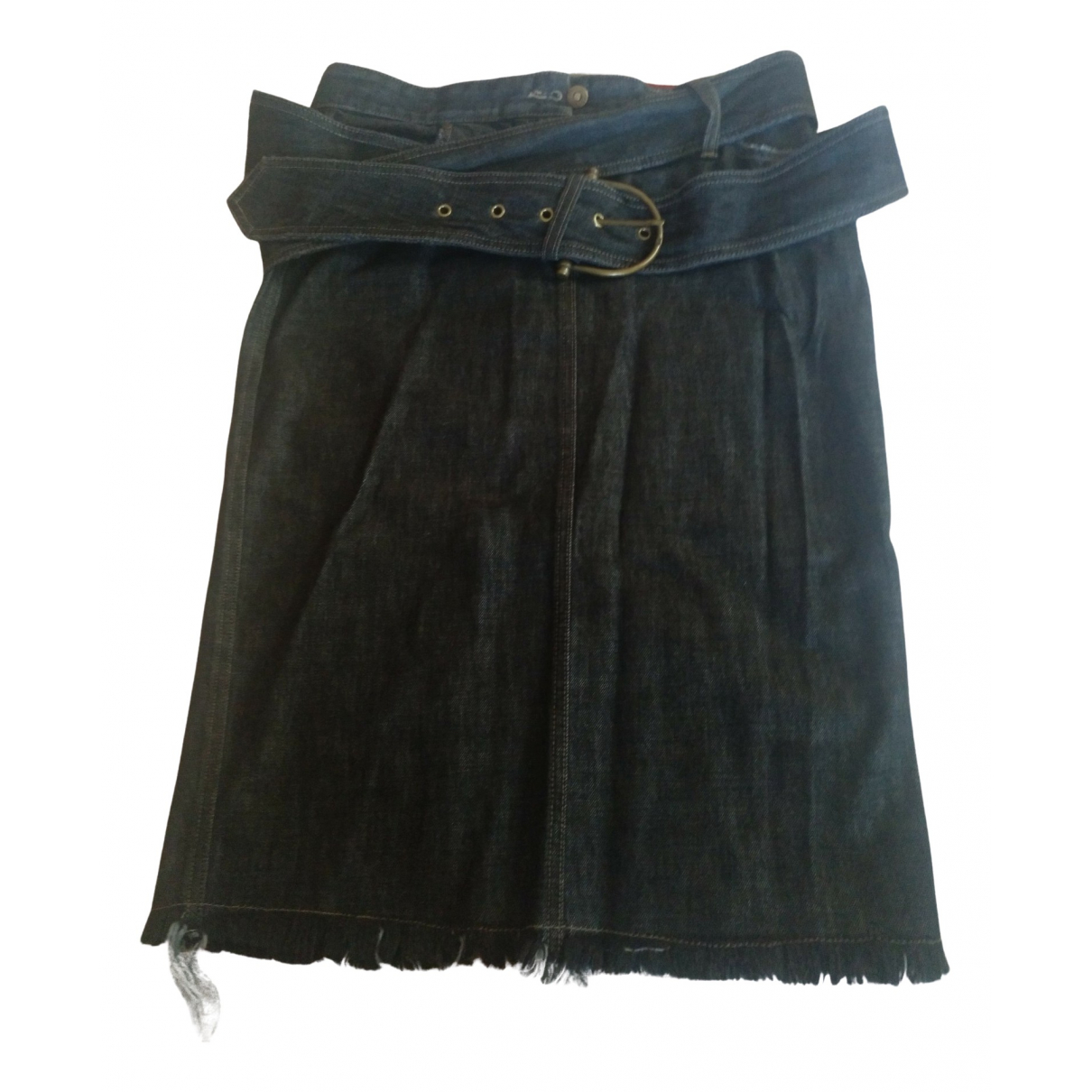 Alexander Mcqueen \N Navy Denim - Jeans skirt for Women 44 IT