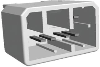 TE Connectivity , MULTILOCK 070 3.5mm Pitch 8 Way 2 Row Straight PCB Socket, Through Hole, Solder Termination