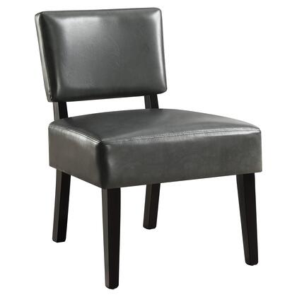I 8285 Accent Chair - Charcoal Grey Leather-Look