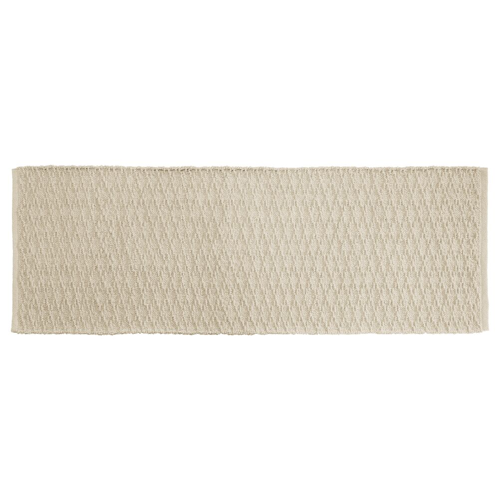 Cotton Rectangular Bath Mat with Diamond Pattern - 60