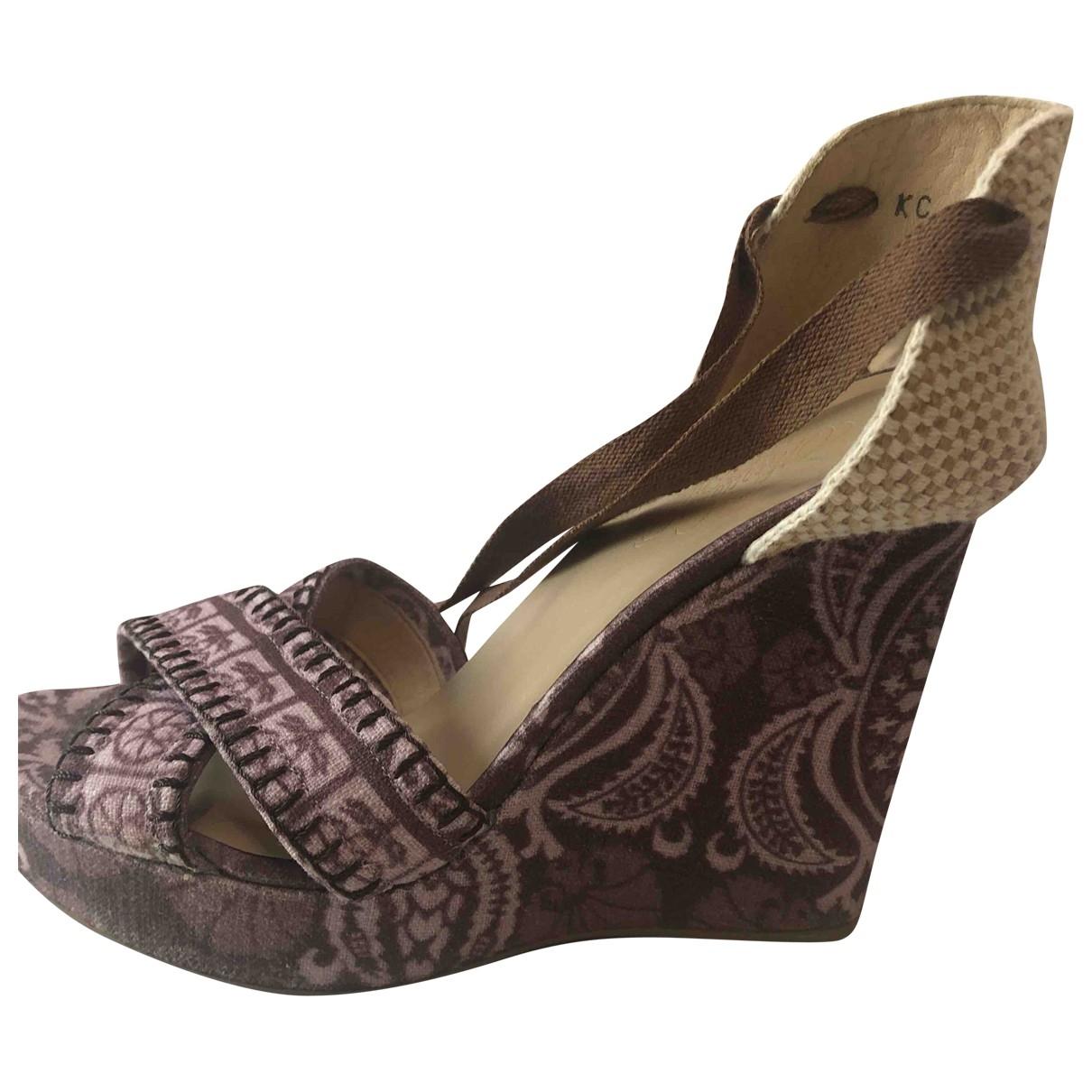 Stuart Weitzman \N Brown Cloth Espadrilles for Women 37.5 EU