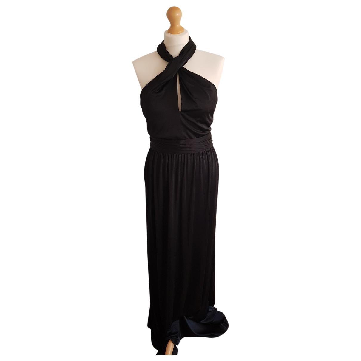 Halston Heritage \N Kleid in  Schwarz Synthetik