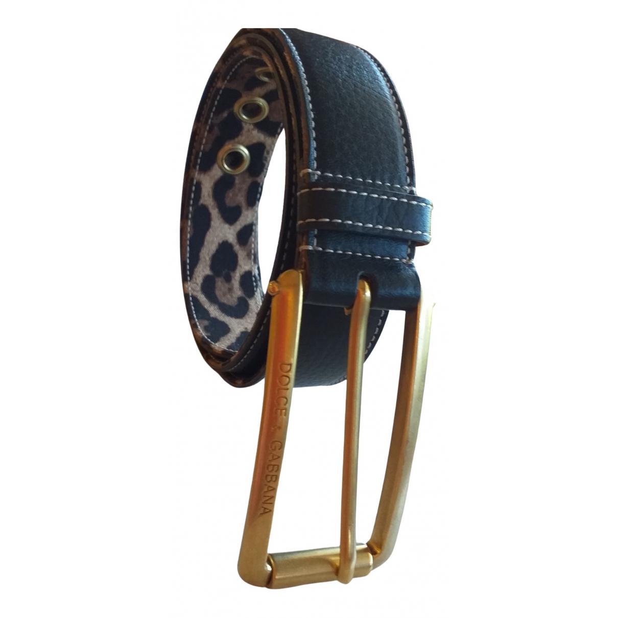 Dolce & Gabbana \N Black Leather belt for Women L International