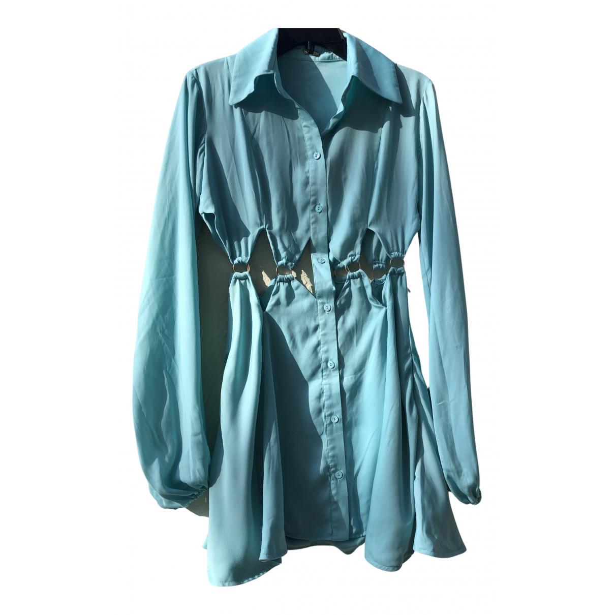 Cult Gaia \N Kleid in  Blau Baumwolle