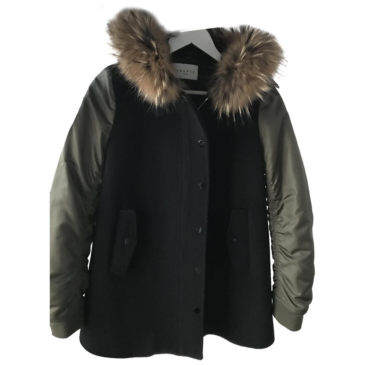 Sandro \N Black Wool coat for Women 1 0-5