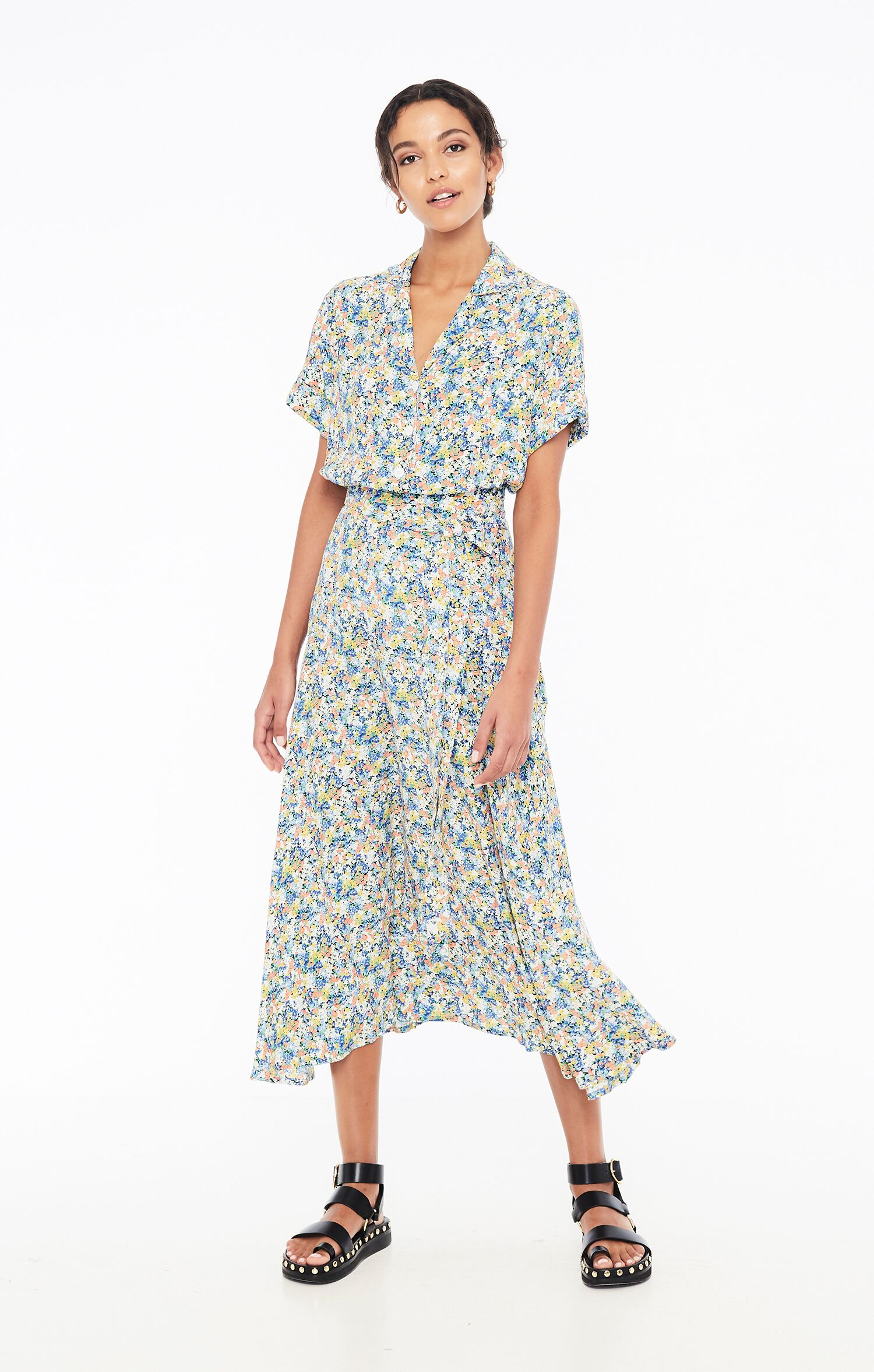 Ostuni Shirt - Vionett Floral Print