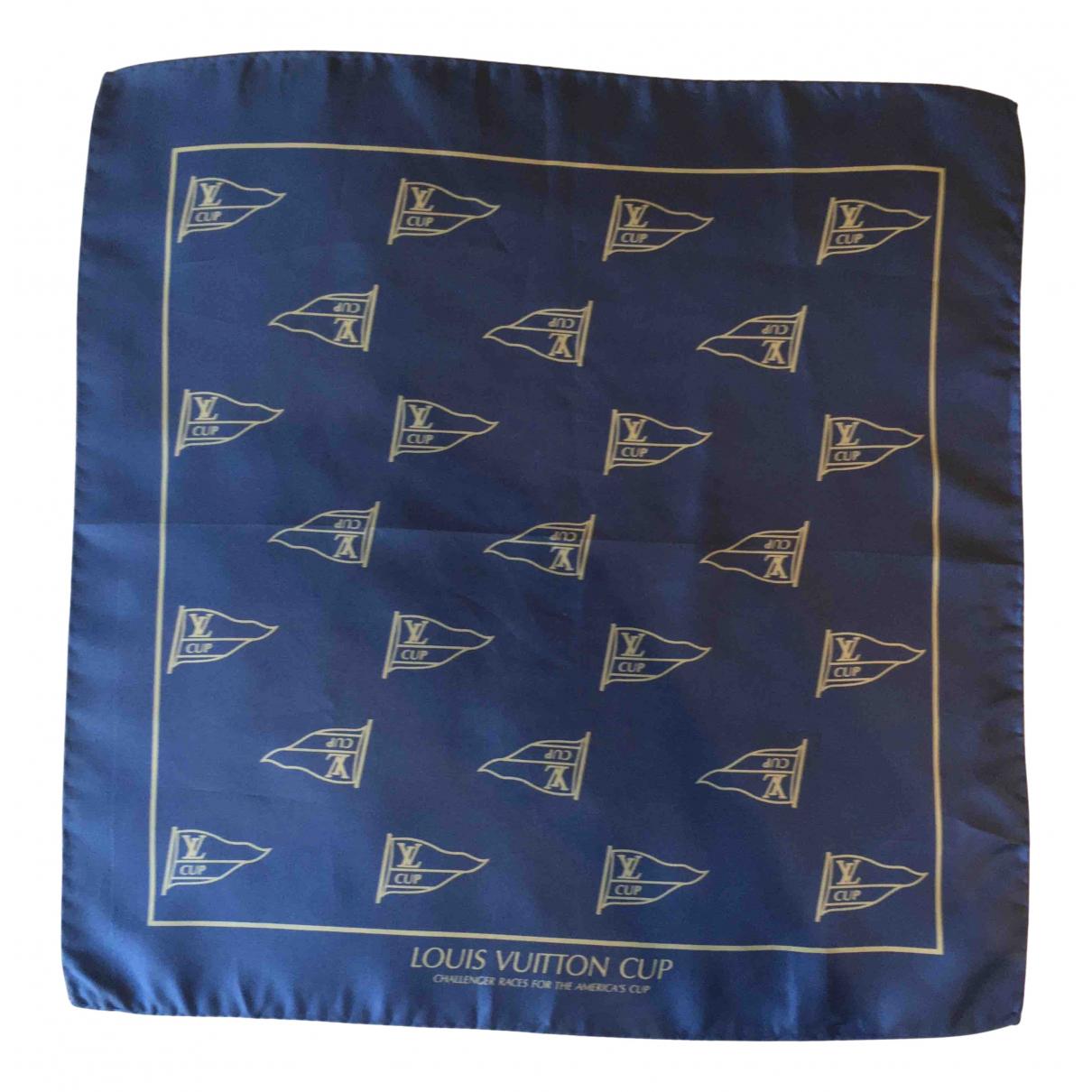 Louis Vuitton \N Tuecher, Schal in  Blau Seide