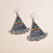 Decor Metal Beads Drop Earrings