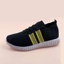 Lace Up Decor Knit Sneakers